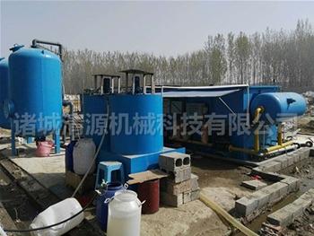 塑料污水处li设备安装xian场