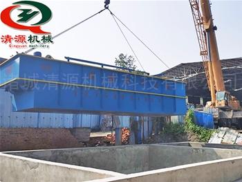 发往四chuan仁寿的平流式气浮机微滤机等设bei到货安zhuang中